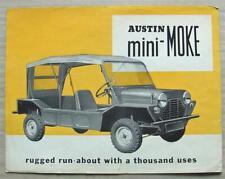 AUSTIN MINI MOKE Car Sales Brochure c1965 #2260/C