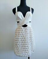 Alice Mccall Off White Bustier Cut Out party Dress summer S AU 8 US 4