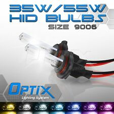 Optix 35W HID Light Xenon Bulbs Fog Lights 2x - 9006 HB4 - 10000k 10k Deep Blue
