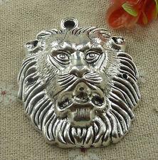 free ship 16 pcs tibetan silver lion pendant 55x44mm #2249