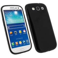 Samsung Galaxy S3 Black Rubber Silicone Gel Soft Slim Fitted Case Cover