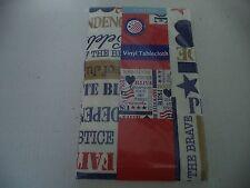 Vinyl Tablecloth With Patriotic Decor 52 Inch x 52 Inch