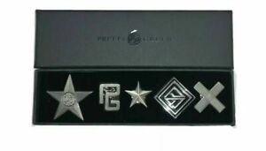 PRETTY GREEN BLACK LABEL 5 x PIN BADGES SET IN BOX **NEW**
