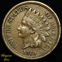 1860 Indian Head Penny 1c 081120-04E Free Shipping!
