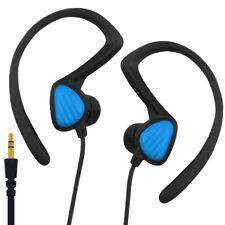 Waterproof Ear Hook Headphones Sports Earbuds Noise Isolating Earphones Blue