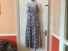 Women's Ladies  BHS Silky Long Nightdress Nighty silver size 12   RRP £20