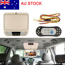 12Inch DVD Player Roof Mount In Car Bus Flip Down HD Monitor USB FM Speaker 12V