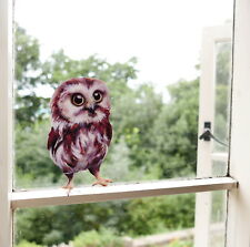 Little Brown Owl Woodland Wall Sticker / Decal for walls & windows, kids bedroom