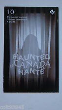 Canadian stamp booklet, HAUNTED CANADA.
