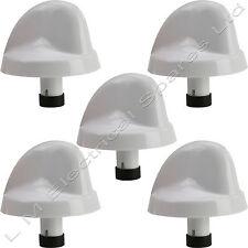 5 X Blanco Olla Horno Gratinador perilla de control de botón Flame Quemador conmutador para BELLING
