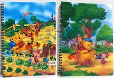 LOTE 2 LIBRETAS WINNIE THE POOH El osito Winnie DISNEY Tamaño 18 x 25 cm Rayado