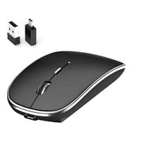 Silent Ergonomic Wireless Mouse with 2.4GHz USB Receiver + Type C Adapter #JT1