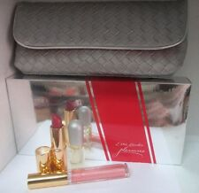 ESTEE LAUDER PLEASURES PURSE MINI SET: EDP Spray+Pure Color Lipstick+Gloss+Bag