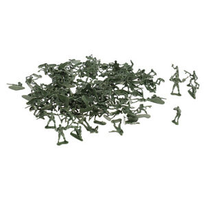 120 Pieces   Playset Army Men Action Figures 5cm WWII Soldiers, Green