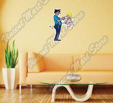"Police Catch Cupid Amor Love Arrow Wall Sticker Room Interior Decor 20""X25"""