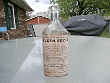 KLEEN EEZEE CORK BOTTLE WITH LABEL BY DEBELL RUG CLEANING CO.,CHICAGO