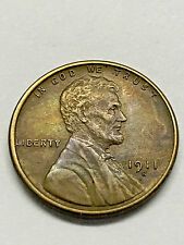 1911-S Lincoln Wheat Cent Penny Unc+ #3523