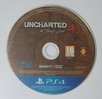Uncharted 4: A Thief's End - DISC ONLY - (Sony PlayStation 4, PS4)