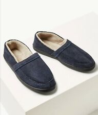 Marks and Spencer Slip-on Slippers with Thinsulate Navy Size 14