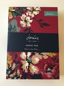 Joules Memo Pad (10cm x 15cm) - 200 Lined Sheets - Brand New