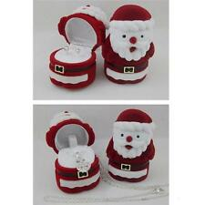 1pc Jewelry Gift Boxes Ring Storage Santa Ring Display New Year Christmas JJ