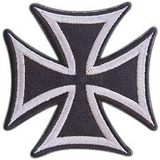 Gray German Iron Cross military medal WW2 War Biker Tattoo Iron-On Patches #0692