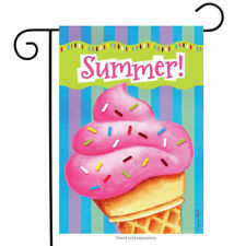 "Ice Cream Delight Summer Garden Flag Sprinkles Cone 12.5"" x 18"" Briarwood Lane"