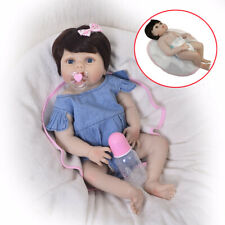 57cm Full Body Silicone Vinyl Handmade Reborn Baby Dolls Correct Sex Education