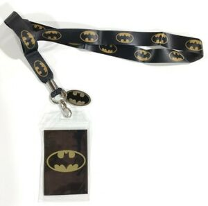 Men Women DC Comics Batman Lanyard ID Badge Holder Super Hero Bat Logo Charm
