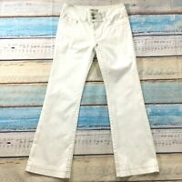 "Cabi Womens Jeans size 6 White new Bootcut Pants x32"" inseam Cotton Stretch nwot"