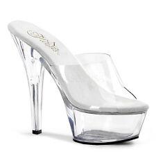 Pleaser Kiss-201 Shoes Sandals Mules Slip On High Heels Platform Pole Dancing