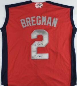 🔥ALEX BREGMAN Signed 2019 ALL-STAR Authentic Jersey ASTROS Star BECKETT BAS