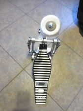 TKO BASS DRUM PEDAL  CHAIN DRIVEN   DOUBLE SPRING  DOUBLE FLOOR SPIKES   NOS!