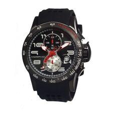 Morphic M4 Series Men's Chronograph Black Silicone Strap Watch MPH0403