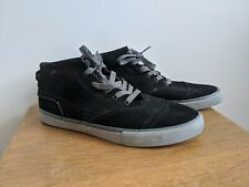 Quicksilver High Top Trainers UK 11 Black Suede Surf  Skate Boarding