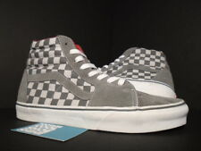 VANS SK8-HI LX VAULT SAMPLE CHECKERBOARD GREY WHITE RED LEATHER LINING NEW 9