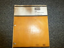 Case DH5 Wheel Mounted Chain Trencher Parts Catalog Manual S/N 1187961 & After