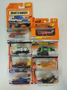 Matchbox 1/64 Diecast Airplane, Helicopter, Boat Lot