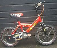 Raleigh Racing Mini Kids Bmx Bike Old School Red Yellow Brakes Free Delivery