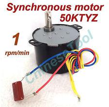 Synchronous Motor 50KTYZ AC 110V 120V 50/60Hz 1 rmp/m CW/CCW 6W Torque 30kgf.cm