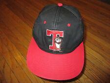 vtg 90s 2-TONE TASMANIAN DEVIL HAT Red Black T For Taz Snapback Baseball Cap