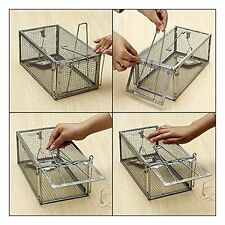 New listing One Door Animal Trap Steel Cage for Small Live Rodent Control Rat Mice Squirrel~