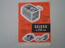 advertising Pubblicità 1958 REGISTRATORE GELOSO G 255 SP
