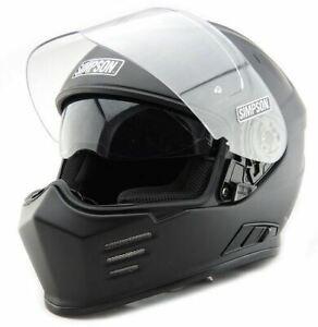 Simpson Ghost Bandit Venom Helmet Road Legal Black White Matt UK S M L XL XXL