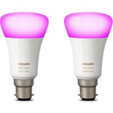 4x Philips Hue Richer Colours B22 BC White Colour Wireless Bulb (Twin)