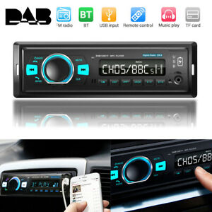 Bluetooth 5.0 Car Stereo Radio Audio MP3 Player 1 DIN USB DAB+ FM AM AUX RDS
