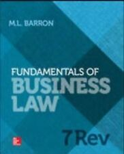 Fundamentals of Business Law by Margaret Barron (Paperback, 2013)
