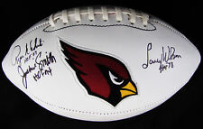 Larry Wilson Roger Wehrli Jackie Smith Signed Cardinals Football Hall of Famers