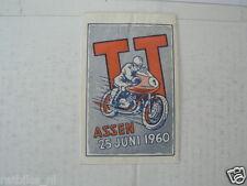 SUKERZAKJE SUGAR BAG DUTCH TT ASSEN 1960 MOTO GP WEGRACE ROADRACE
