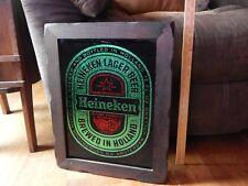 Heineken Lager Beer ~ Brewed in Holland_Amsterdam [18.5''x15' ;'] Bar_Pub Vtg Sign